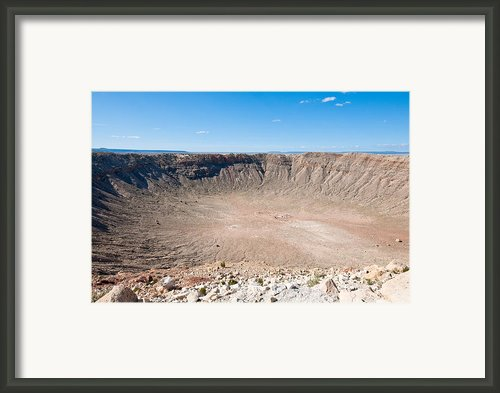 Meteor Crater Az Framed Print By Tom Dowd