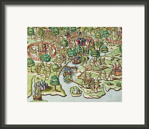 Methods Of Sieging And Attacking Framed Print By Theodore De Bry
