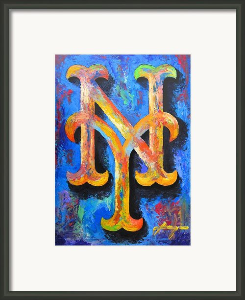Mets Portrait Framed Print By Dan Haraga
