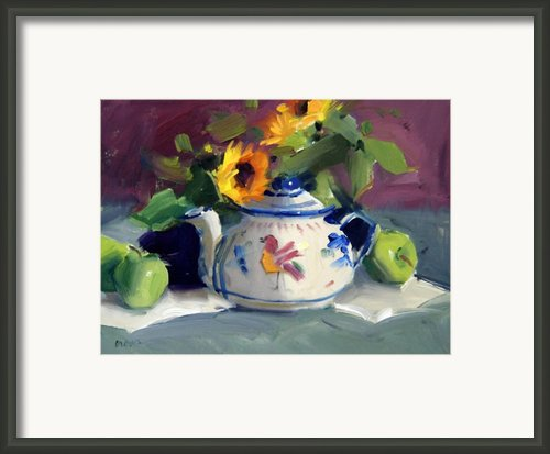 Mexican Pottery Framed Print By Judy Crowe