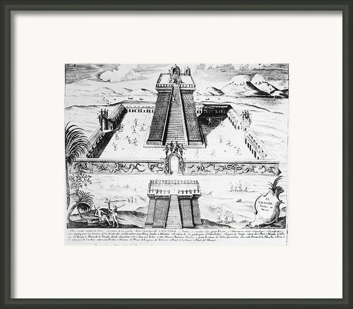 Mexico: Aztec Temple, 1765 Framed Print By Granger
