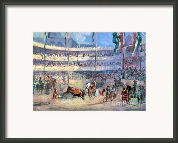 Mexico: Bullfight, 1833 Framed Print By Granger