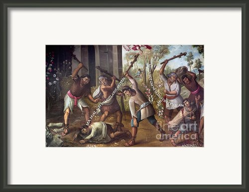 Mexico: Christian Martyrs Framed Print By Granger