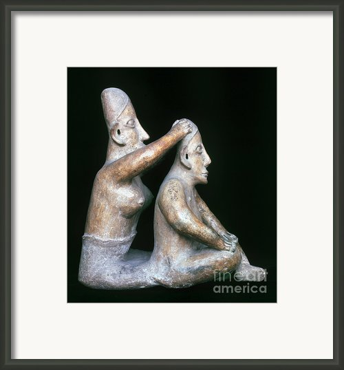 Mexico: Totonac Figures Framed Print By Granger