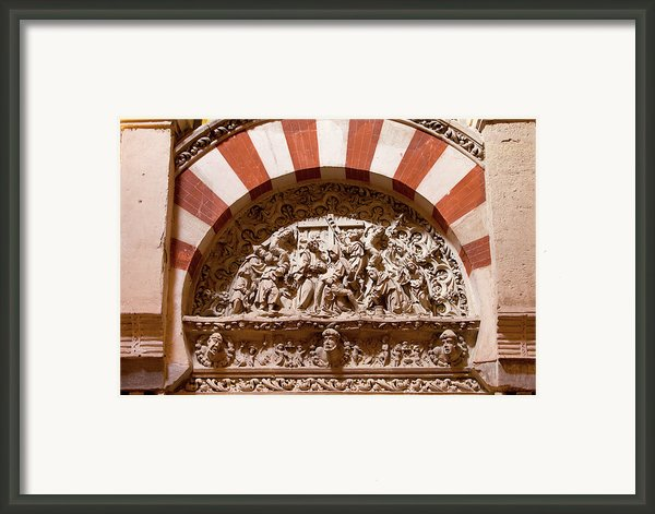 Mezquita Cathedral Religious Carving Framed Print By Artur Bogacki
