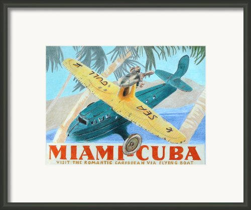 Miami-cuba Framed Print By Glenda Zuckerman