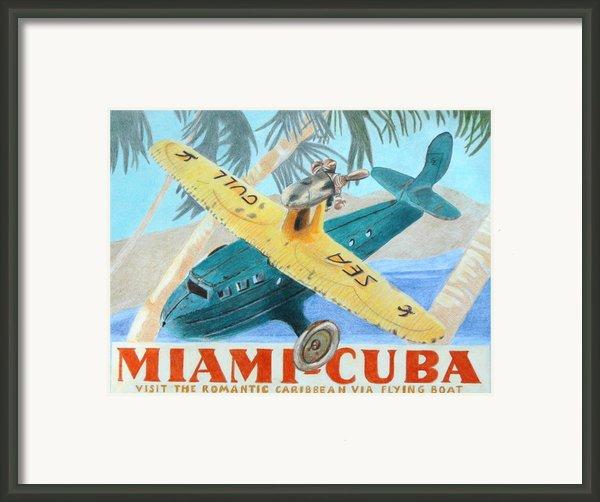 Miami-cuba Framed Print By Glenda Zuckerman