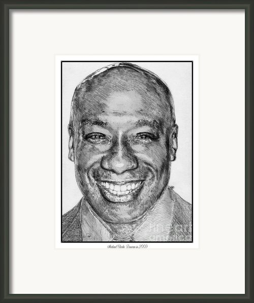 Michael Clarke Duncan In 2009 Framed Print By J Mccombie