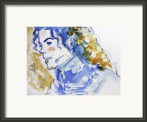 Michael Jackson - Bless You Framed Print By Hitomi Osanai