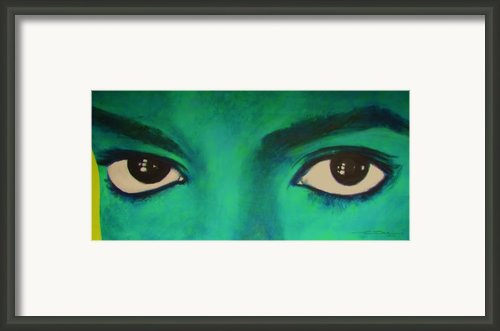 Michael Jackson - Eyes Framed Print By Eric Dee