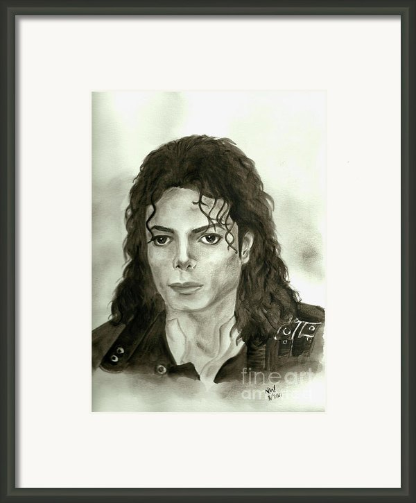 Michael Jackson - My Dreams My Life Framed Print By Nicole Wang