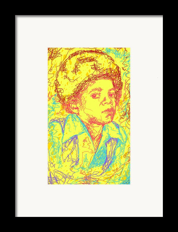 Michael Jackson Abstraction Framed Print By Kenal Louis