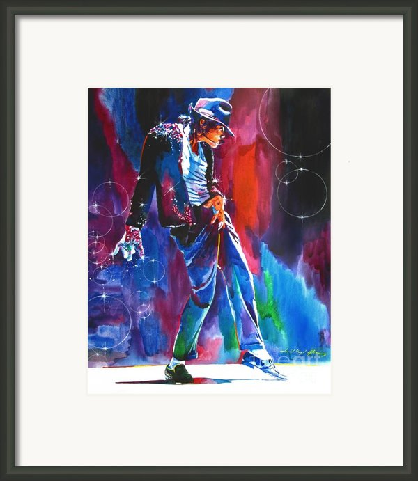 Michael Jackson Action Framed Print By David Lloyd Glover