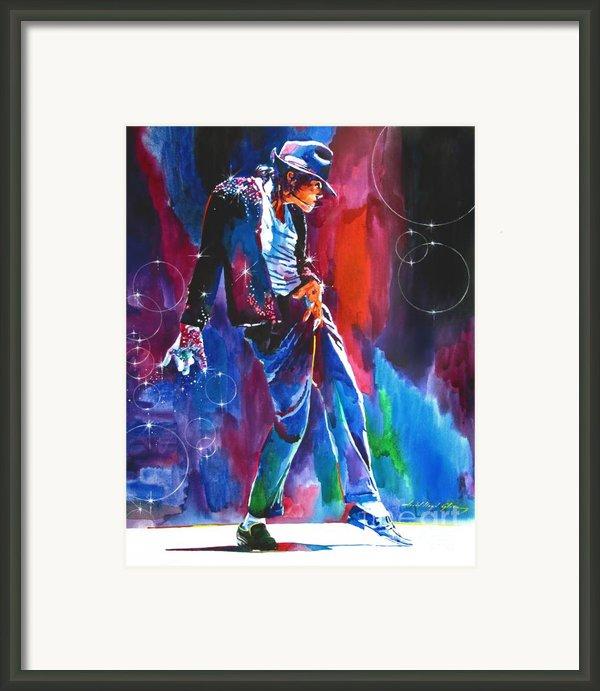 Michael Jackson Action Framed Print By David Lloyd Glover