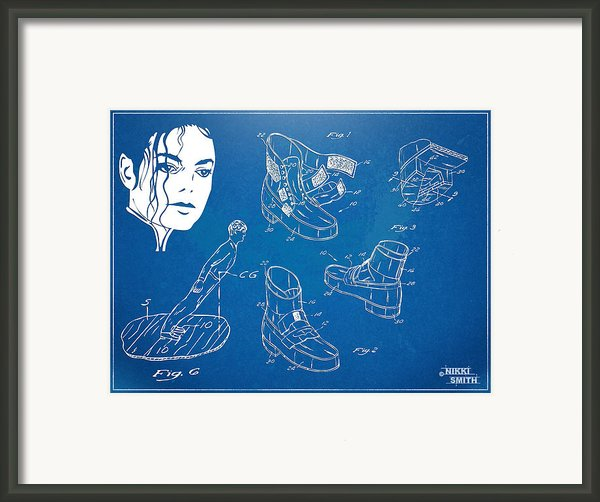 Michael Jackson Anti-gravity Shoe Patent Artwork Framed Print By Nikki Marie Smith