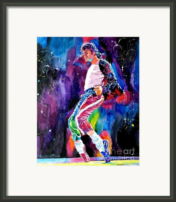 Michael Jackson Dance Framed Print By David Lloyd Glover