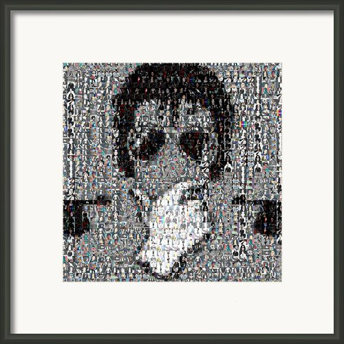 Michael Jackson Glove Montage Framed Print By Paul Van Scott