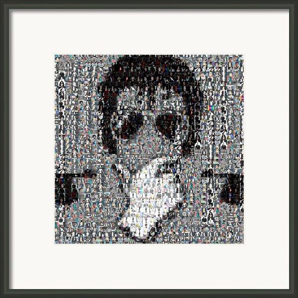Michael Jackson Glove Montage Framed Print By Paul Van Scott