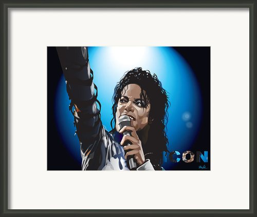 Michael Jackson Icon Framed Print By Mike  Haslam