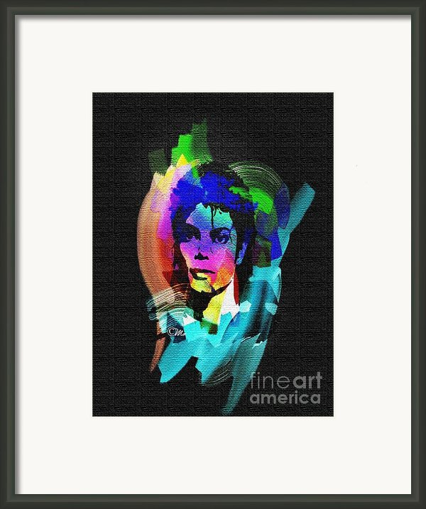 Michael Jackson Framed Print By Mo T