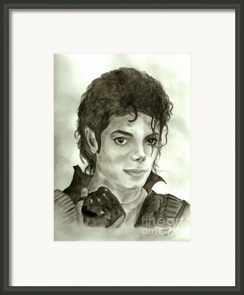Michael Jackson Framed Print By Nicole Wang