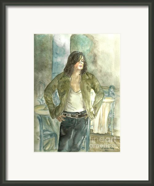 Michael Jackson One More Chance Screenshot Framed Print By Nicole Wang