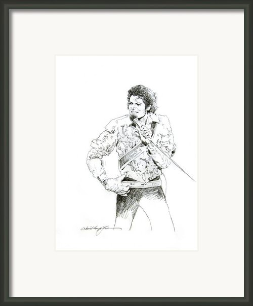 Michael Jackson Royalty Framed Print By David Lloyd Glover