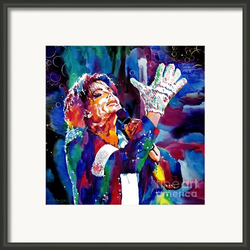 Michael Jackson Sings Framed Print By David Lloyd Glover