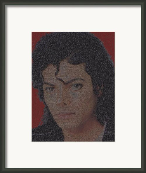 Michael Jackson Songs Mosaic Framed Print By Paul Van Scott