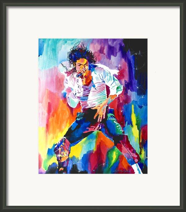 Michael Jackson Wind Framed Print By David Lloyd Glover