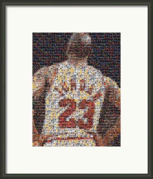 Michael Jordan Card Mosaic 2 Framed Print By Paul Van Scott