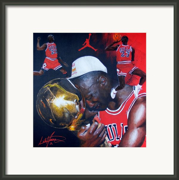 Michael Jordan Framed Print By Luke Morrison
