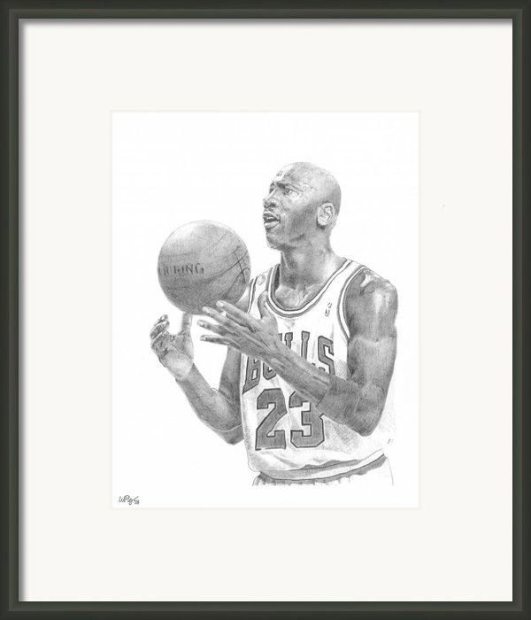 Michael Jordan Framed Print By William Pleasant