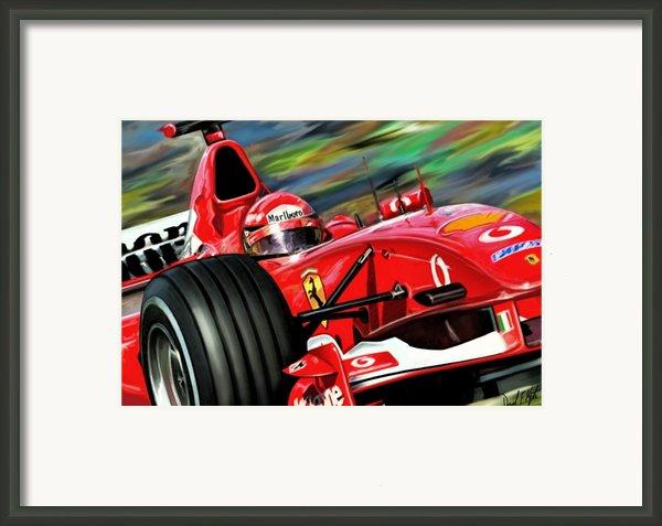 Michael Schumacher Ferrari Framed Print By David Kyte