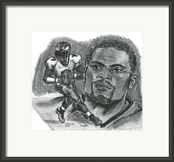 Michael Vick Framed Print By Chris  Delvecchio