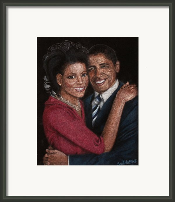 Michelle And Barack Framed Print By Diane Bombshelter