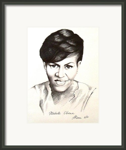 Michelle Obama Framed Print By A Karron