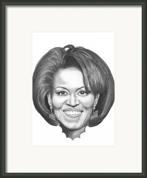 Michelle Obama Framed Print By Murphy Elliott