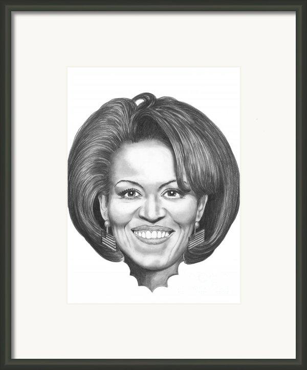 Michelle Obama Framed Print By Murphy Elliott