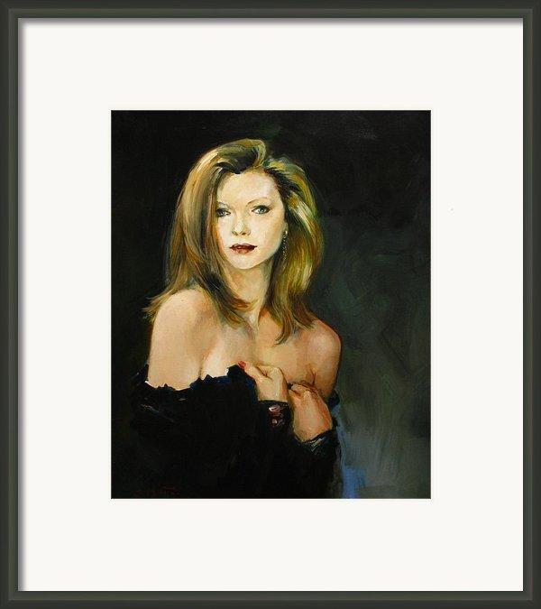 Michelle Pfeiffer Framed Print By Tigran Ghulyan