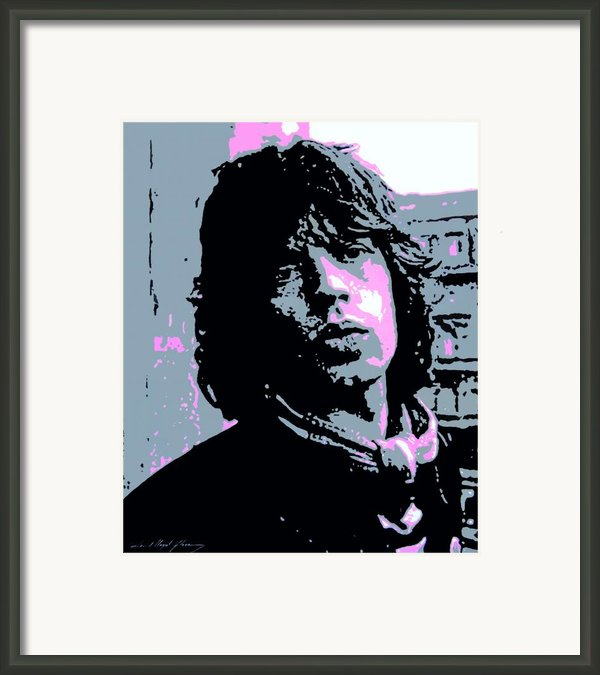 Mick Jagger In London Framed Print By David Lloyd Glover