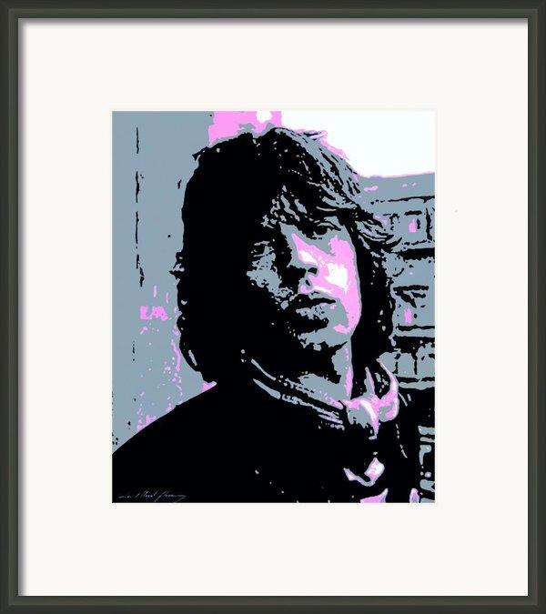 Mick Jagger In London Framed Print By David Lloyd Glover