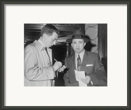 Mickey Cohen 1913-1976, Speaking Framed Print By Everett