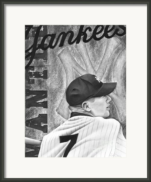 Mickey Mantle Framed Print By Scott  Hubbert