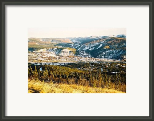 Midnight Dome - Dawson City Framed Print By Juergen Weiss