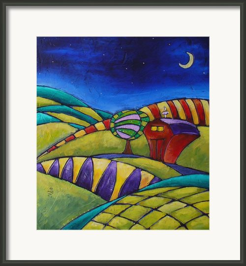 Midnight Farm    Framed Print By Inna Novikova