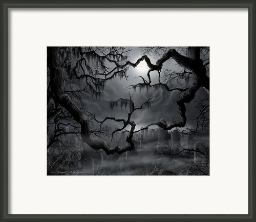 Midnight In The Graveyard Ii Framed Print By James Christopher Hill