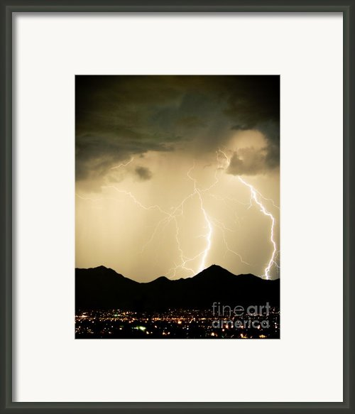 Midnight Lightning Storm Framed Print By James Bo Insogna
