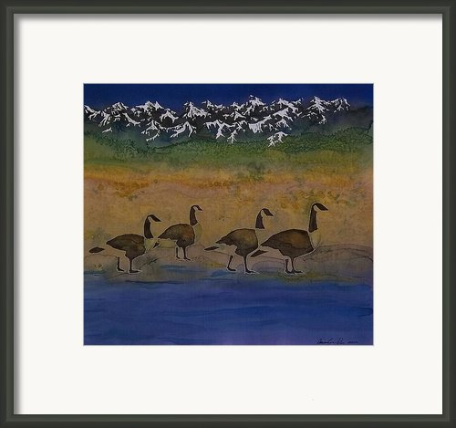 Migration Series Geese 2 Framed Print By Carolyn Doe