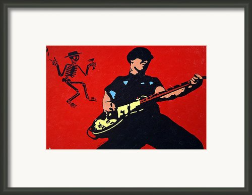 Mike Ness Framed Print By Steven Sloan